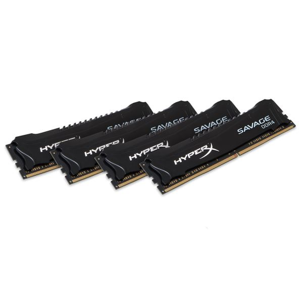 Kingston 32GB (4x8GB) HyperX SAVAGE Black DDR4 2666MHz CL13 1.2V XMP Ram