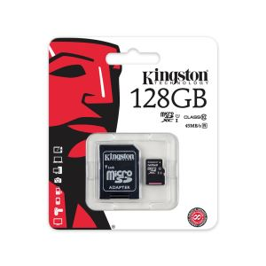 KINGSTON 128GB MICRO SDHC CLASS10 ADAPTÖRLÜ HAFIZA KARTI