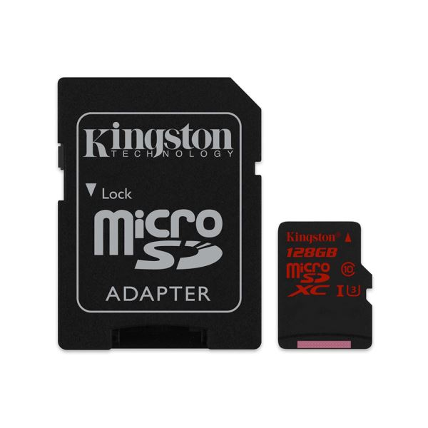 KINGSTON 128GB MICROSDHC UHS-I SPEED 3 (U3) ( 90/80 MB/S) HAFIZA KARTI
