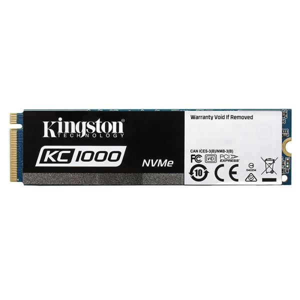 Kingston 480GB KC1000 Serisi M.2 Sata NVMe SSD (Okuma 2700MB / Yazma 1600MB)