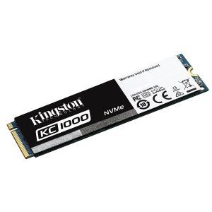 Kingston 480GB KC1000 Serisi NVMe M.2 SSD (Okuma 2700MB / Yazma 1600MB)