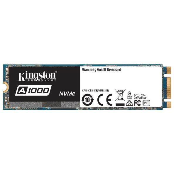 Kingston 480GB A1000 Serisi M.2 Sata NVMe SSD (Okuma 1500MB / Yazma 1000MB)