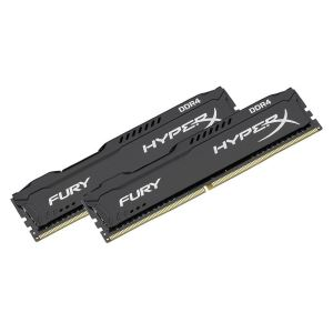 Kingston 8GB (2x4GB) HyperX FURY Black DDR4 2400MHz CL15 1.2V Dual Kit Ram