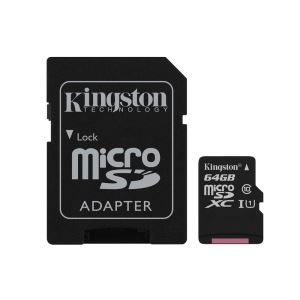 KINGSTON 64GB MICROSDHC CANVAS SELECT UHS1 ADAPTÖRLÜ HAFIZA KARTI(80MB/S-10MB/S)