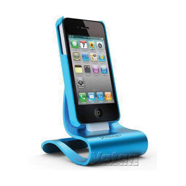 KN-8279 iCrado PLUS IPHONE 4/4S DOCK STATION- (TURKUAZ)