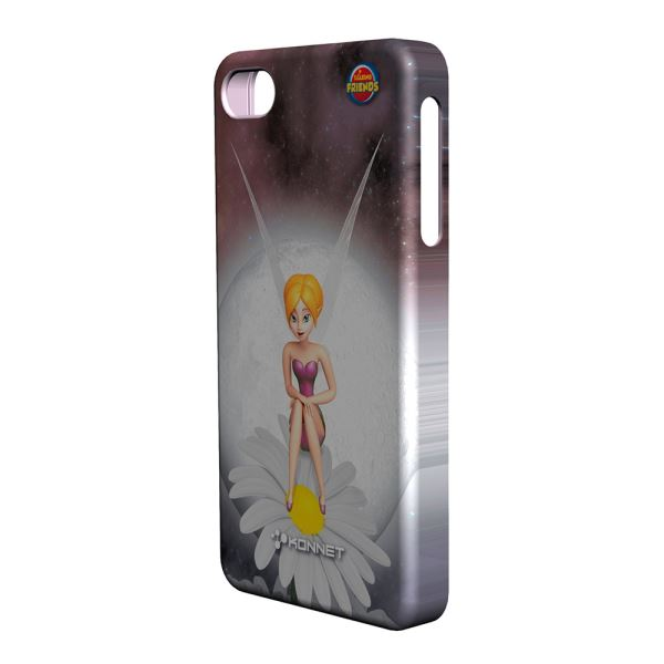KN-5726 HARDJAC GRAFFİTO IPHONE 4/4S KILIF- (LİLA)