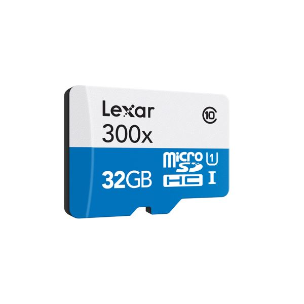 LEXAR 32GB microSDHC High Speed with Adapter (Class 10)