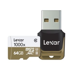 LEXAR 64GB microSDXC UHS-II 1000x with Reader (Class 10) U3 HAFIZA KARTI