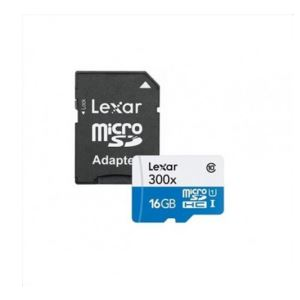 LEXAR HIGH PERFORMANCE 16 GB 300X CLASS 10 ADAPTÖRLÜ HAFIZA KARTI (45MB/S)