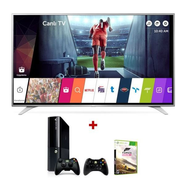 LG 49UH650V 4K UHD Smart LED TV + MICROSOFT XBOX 360 Bundle Kampanyası