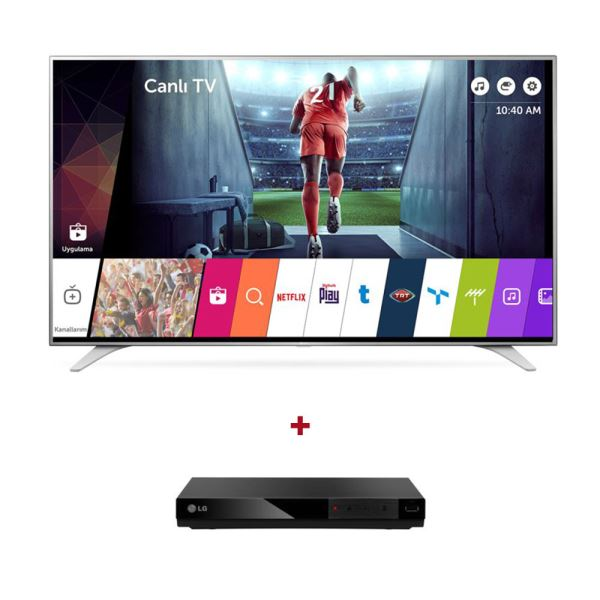 LG  43UH650V 4K UHD Smart LED TV + LG DP132H HDMI DVD Player Bundle Kampanyası