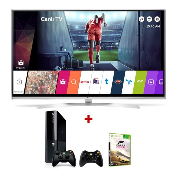 LG 49UH850V 49'' (123CM) SMART LED TV+MICROSOFT XBOX 360 BUNDLE KAMPANYASI