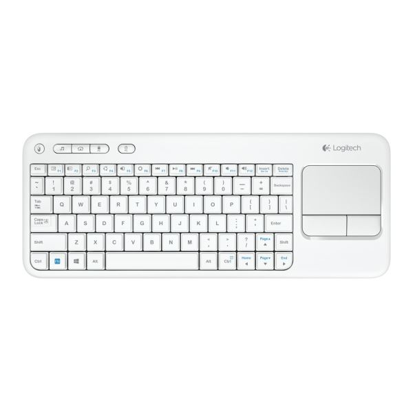 LOGITECH K400 TOUCH UNIFYING WIRELESS KEYBOARD (WHITE)