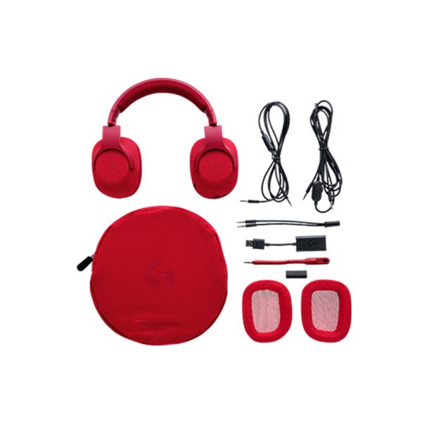 LOGITECH G433 DTS 7.1 GAMING HEADSET FIRE RED