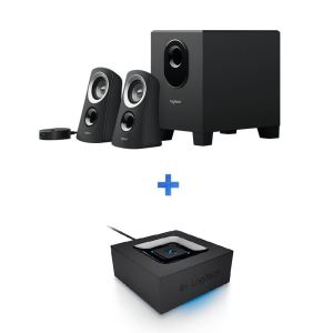 LOGITECH Z313 2.1 SPEAKER BLACK + BLUETOOTH ADAP.HEDIYE