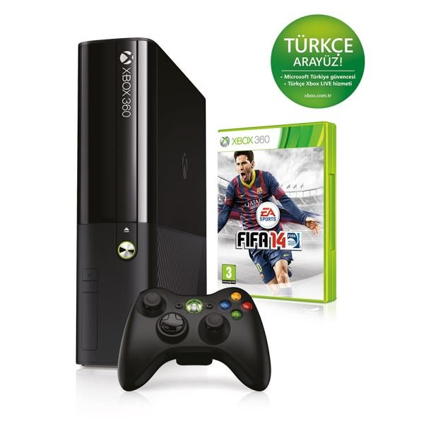 MICROSOFT XBOX 360 E 4 GB + X360 FIFA 14 (XBOX 360 BUNDLE SET 26)