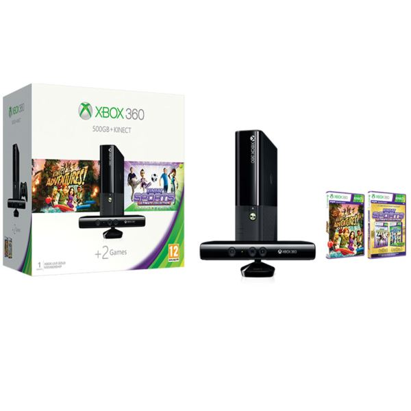 MICROSOFT XBOX 360 500GB KINECT+KINECT SPORTS ULTIMATE+KINECT ADVENTURES