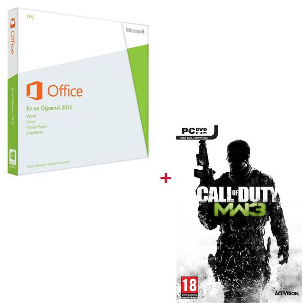 Office Ev ve Öğrenci 2013 Türkçe - PC Call Of Duty Modern Warfare 3 HEDİYELİ