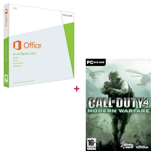 Office Ev ve Öğrenci 2013 Türkçe - PC Call Of Duty 4 Modern Warfare HEDİYELİ