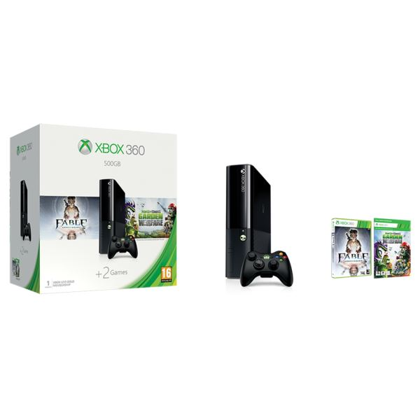 MICROSOFT XBOX 360 500GB + FABLE ANNIVERSARY KOD + PLANTS VS. ZOMBIES