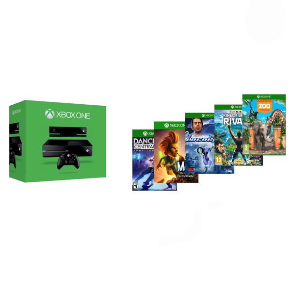 MICROSOFT XBOX ONE KINECT+DANCE CENTRAL+KS RIVALS+ZOO TYCOON+MAX+LOCOCYCLE