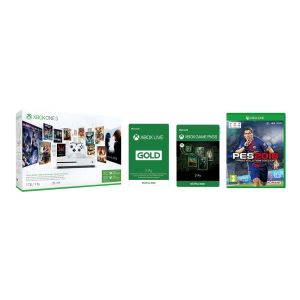 MICROSOFT XBOX ONE S 1 TB KONSOL+ 3 AY LIVE+3 AY GAMEPASS+HALO5+GOW+PES18 BUNDLE