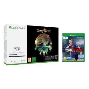 MICROSOFT XBOX ONE S 1 TB SEA OF THIEVES + PES 2018