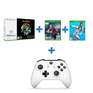 MICROSOFT XBOX ONE S 1 TB SEA OF THIEVES + PES 2018 + FIFA 19 + 2.KUMANDA