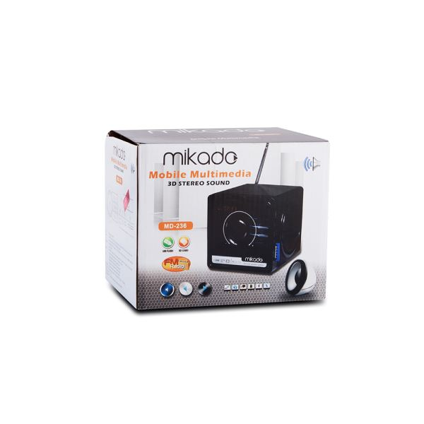 MIKADO MD-236 Mini FM Radyo Destekli Speaker