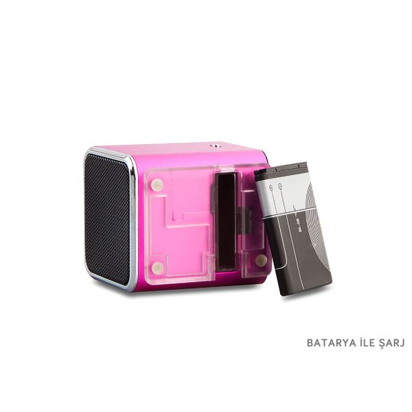 MIKADO MD-404 Mini Speaker FM Radyo Destekli - Pembe