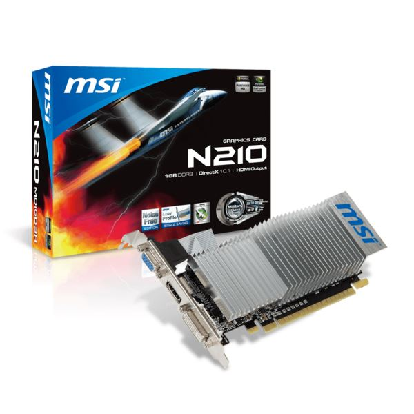 MSI G210 DDR3 1GB 64Bit Nvidia GeForce DX10.1 Ekran Kartı