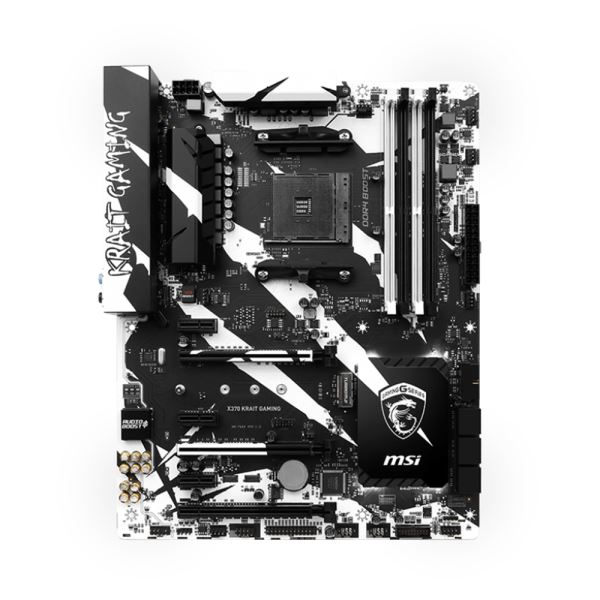 MSI X370 X370 KRAIT GAMING AM4 AMD Ryzen™ DDR4 3200+MHz(OC) USB 3.1 Anakart