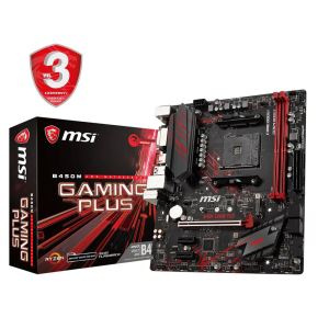 MSI B450M GAMING PLUS AM4 AMD Ryzen DDR4 3466+MHz(O.C.) USB3.1 Anakart