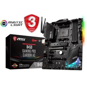 MSI B450 GAMING PRO CARBON C AM4 AMD Ryzen DDR4 3466+MHz(O.C.) USB3.1 Anakart