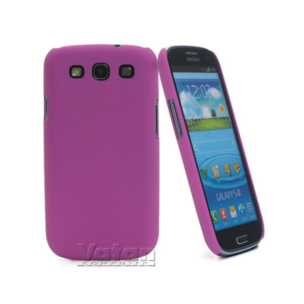 15041 RUBBER BACK GALAXY S3 KILIF- (PEMBE)