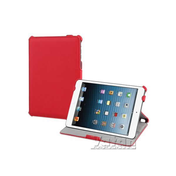 17595 SNOW SLİM İPAD MİNİ KILIF VE STAND- (KIRMIZI)