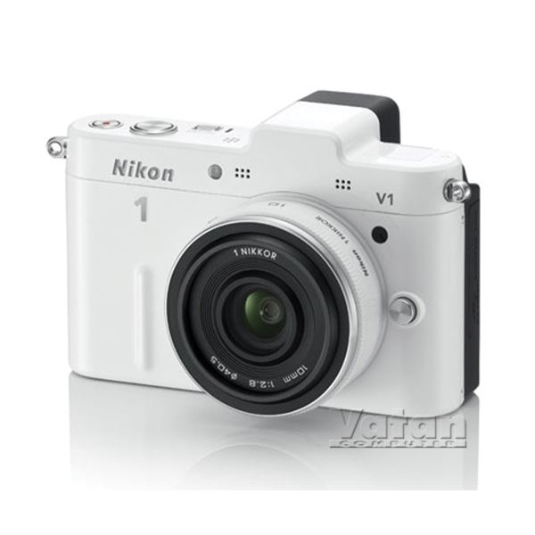 NIKON V1 WHITE 10MM LENS KIT 10.1 MP 3