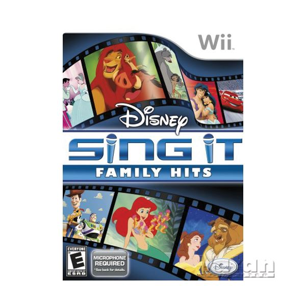 NINTENDO Wii Disney Sing it Family with Mic.