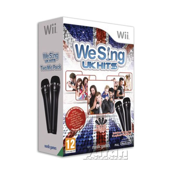 NINTENDO Wii We Sing UK Hits with 2 mic