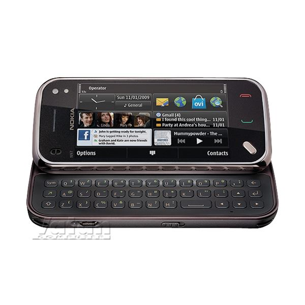 NOKIA N97 MINI AKILLI TELEFON (CHERRY BLACK)