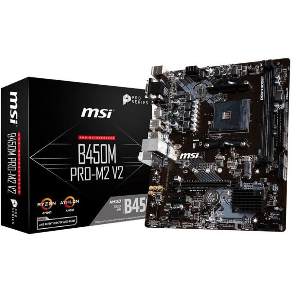 AMD R5 2600-MSI RTX2060 GAMING 6G-MSI B450M PRO M2-V2 -WD 500 GB SSD-CORSAIR 8GB