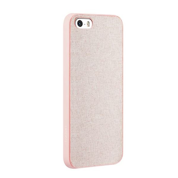 OZAKİ O!COAT 0.3 + CANVAS İPHONE 5/5S KILIFI + EKRAN KORUYUCU FİLM (PEMBE)