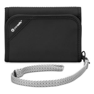 Pacsafe Rfidsafe V125 Anti-Theft Blocking Tri-Fold Wallet Cüzdan SİYAH 10558100