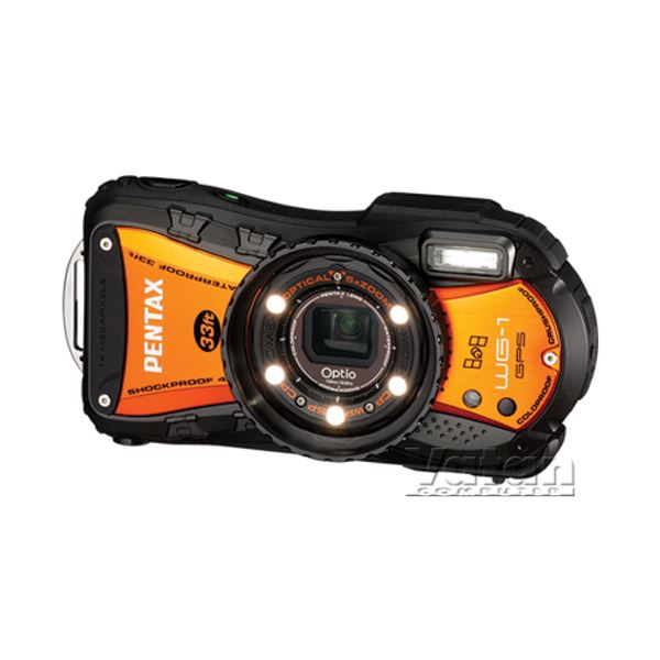 PENTAX Optio WG1 GPS 14.1 MP LCD EKRAN DIJITAL FOTOĞRAF MAKİNESİ(WİNTER ORANGE)