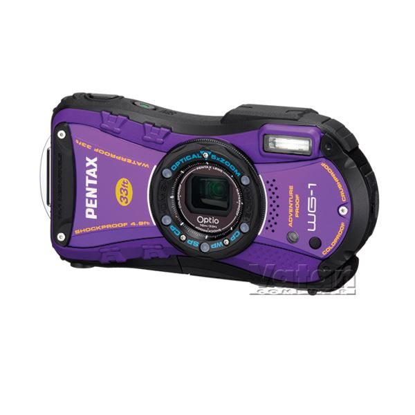 PENTAX OPTİO WG1 14.1 MP LCD EKRAN DIJITAL FOTOĞRAF MAKİNESİ(WİNTER PACK PURP)