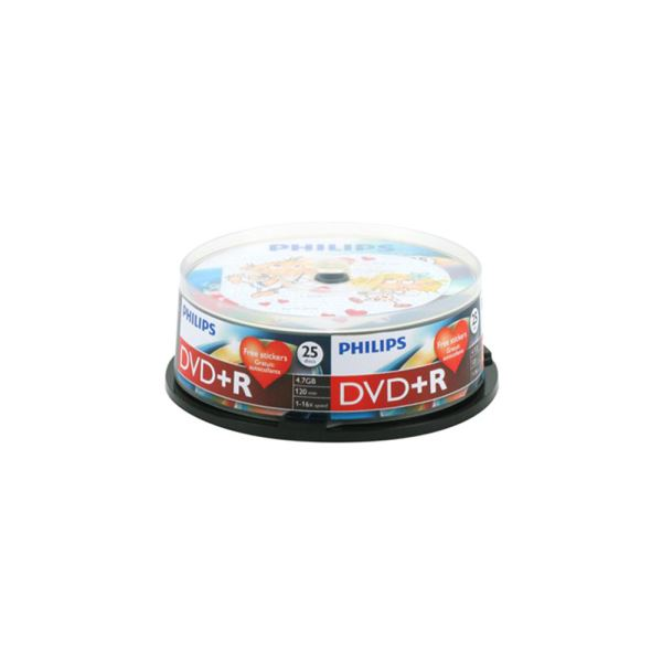 PHILIPS DVD+R 16X 4,7GB 25'Lİ CAKE BOX ( DR4S6B25F/00 )