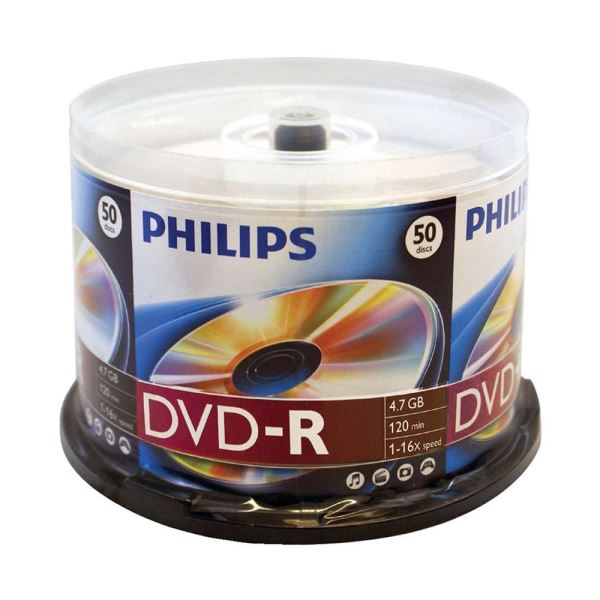 PHILIPS DVD-R 16X 4,7GB 50'Lİ CAKE BOX (DM4S6B50F-97 )