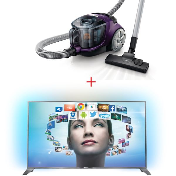 PHILIPS 55PUS8809/12 TV + PHILIPS FC8475 SÜPÜRGE BUNDLE KAMPANYASI
