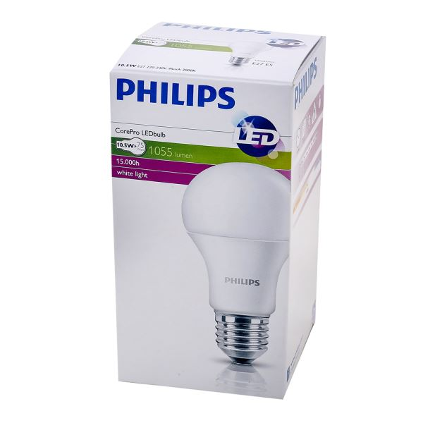 PHILIPS LED CorePro 10,5-75W E27 SARI