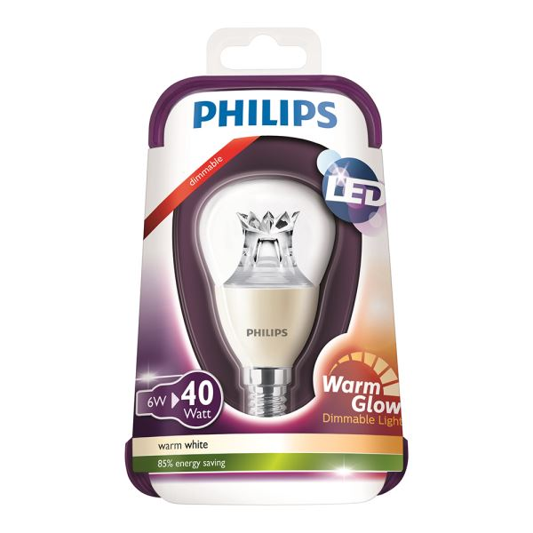 PHILIPS LED Warmglow 40W E14 ŞEFFAF DIM SARI